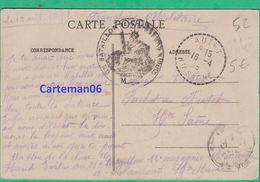 Marcophilie - Cachet - 61e Bataillon De Chasseur à Pied Et Autet (Haute Saône) - Marcophilie (Lettres)