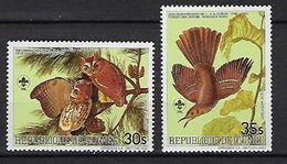 """Guinée Aérien YT 178 & 179 """" J.J. Audubon, Oiseaux """" 1985 Neuf** - Guinée (1958-...)"""