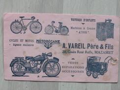 Très Ancien Buvard Motobécane - Cycles Et Motos - Collections, Lots & Séries
