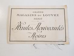 Image & échantillon GRANDS MAGASINS DU LOUVRE PARIS Nouveautés Noires Deuil - Publicités