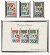 DAHOMEY Scott 150-151-C16-C16a Yvert 168-169-PA20-BF2** (3+bloc) *VLH, O, ** Cote 10$ - Bénin – Dahomey (1960-...)