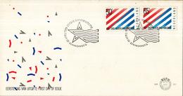E201 - 200 Jaar Betrekkingen Nederland - U.S.A. (1982) - NVPH 1266 -1267 - FDC