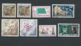 DAHOMEY Scott 153-154-155-C18-191-192-202-C30 Yvert 172-173-174-PA22-211-212-222-PA34 (8) O Cote 9$ - Bénin – Dahomey (1960-...)