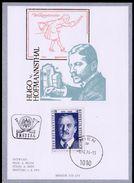 """Österreich 1974: MERKURKARTE/Ersttag """"Hugo V.Hofmannsthal""""  (siehe Foto/Scan) - 1945-.... 2. Republik"""