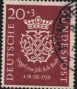 Allemagne Fédérale Deutsche Bundespost Siegel Von John Sebastien Bach  N8 1950 Oblitéré - Used Stamps