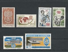 DAHOMEY Scott B15, B16, 194, 195, 221, C32 Yvert 171, 191, 214, 215, 239, PA36 (6) * Et O Cote 4,20$ - Bénin – Dahomey (1960-...)
