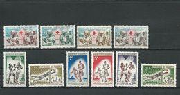 DAHOMEY Scott 156-159, 172-177 Yvert 175-178, 192-197 (10) ** Cote 4,40$ 1962-3 - Bénin – Dahomey (1960-...)