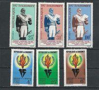 DAHOMEY Scott 179-181 182-184 Yvert 199-201 202-204 (6) ** Cote 3,50$ 1963 - Bénin – Dahomey (1960-...)