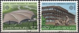 Luxembourg 1987 Michel 1174 - 1175 O Cote (2008) 2.00 Euro Europa CEPT Architecture Moderne Cachet Rond - Gebraucht