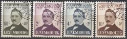 Luxembourg 1949 Michel 464 - 467 O Cote (2008) 40.20 Euro Caritas Michel Rodange Poète Cachet Rond - Luxemburg