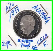 ALEMANIA - GERMANY MONEDA DE 2.00 DM. AÑO 1977-F  CALIDAD  PROOF S/C - [ 7] 1949-… : RFA - Rep. Fed. Alemana
