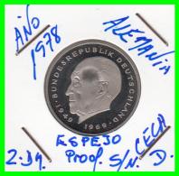 ALEMANIA - GERMANY MONEDA DE 2.00 DM. AÑO 1978-D  CALIDAD  PROOF S/C - [ 7] 1949-… : RFA - Rep. Fed. Alemana