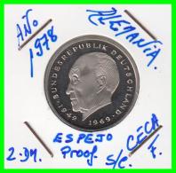 ALEMANIA - GERMANY MONEDA DE 2.00 DM. AÑO 1978-F  CALIDAD  PROOF S/C - [ 7] 1949-… : RFA - Rep. Fed. Alemana