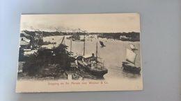 CARTOLINA SHIPPING ON THE MENAM NEAR WINDSOR & CO. - Tailandia