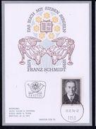 """Österreich 1974: MERKURKARTE/Ersttag """"Franz Schmidt""""  (siehe Foto/Scan) - 1945-.... 2. Republik"""