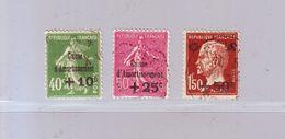 FRANCE - Au Profit De La Caisse D'Amortissement  253/255 - 1929 - Oblitérés. - Sinking Fund