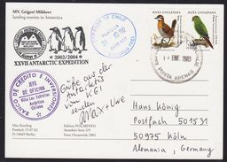 ANTARCTIC,GERMANY,Color-Card:German Max + Uwe,4 Stations, Look Scans !! 12.9-46 - Timbres