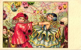 3  CPA  Illustrator  A. Bertiglia    Carnaval  Children' S Ball  Lanterns  Pierrot   N°2570     Print Eliten - Bertiglia, A.