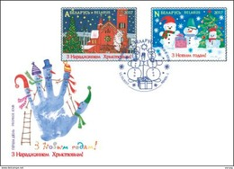 _TH Belarus 2017 Christmas New Year Xmas 2v FDC - Weihnachten