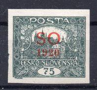 CZECHOSLOVAKIA   SO 1920 , MNH - Tchécoslovaquie