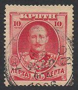 Crete, 10 L. 1905, Scott # 76, Mi # 21, Used. - Creta