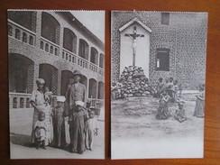 CONGO . MISSION DES SOEURS DE NOTRE DAMES  . 2 CARTES - Belgian Congo - Other