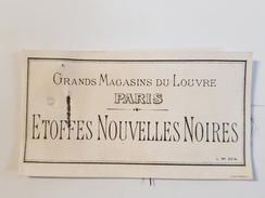 Image & échantillon GRANDS MAGASINS DU LOUVRE PARIS Etoffes Nouvelles Noires Deuil - Publicités