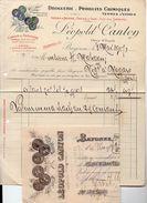 Bayonne  (64 Pyrénées Atlantiques) Facture + Traite LEOPOLD CANTON 1917 (PPP6423) - 1900 – 1949