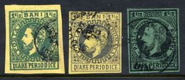 ROMANIA  1871 Prince Carol I   Three Stamps 1½ B.   DIARE PERIODICE, Used. - Revenue Stamps