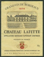Rare // Etiquette // Bordeaux //  Château Lafitte 1974, Artigues, Gironde,France - Andere