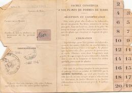 Carte De Jardinage Du 7 Août 1945 à La Ferté-Saint-Aubin - Vieux Papiers