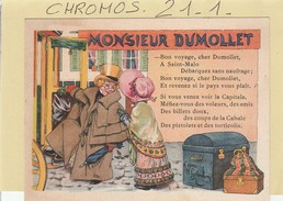 Chromo - RICQLES - ( Monsieur Dumollet ) Illustr.gerbault -  (alcool De Menthe) - Ohne Zuordnung
