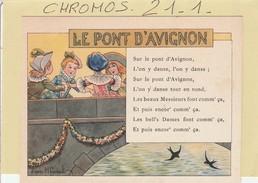 Chromo - RICQLES - ( Le Pont D'avignon ) Illustr. Gerbault -  (alcool De Menthe) - Ohne Zuordnung