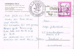 26484. Postal OBSTEIG (Tirol) Austria 1985. Alpengasthof - 1981-90 Briefe U. Dokumente