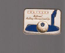 Pin's -   GOLF  - CHRYSLER  NATIONAL RULLING CHAMPIONSHIP - Golf