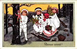 2  CPA   Illustrator   A.K.  Harlequin Christmas   Impr. Austria - Other Illustrators