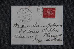 Lettre De GANGES à CLERMONT FERRAND - 1941-42 Pétain