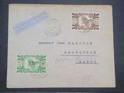 NOUVELLE CALÉDONIE - Enveloppe De Nouméa Pour Marrakech En 1947 , Affranchissement Plaisant - L 9985 - Cartas