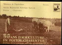 50 Ans D' Agriculture En Poitou Charentes 1929 1979 ( Les Tracteurs, Les Chevres, Les Lapins, Les Vaches, La Vigne ) - Poitou-Charentes