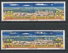 DAHOMEY Scott 203-204 219-220 Yvert 223-224 240-241 (4) ** Cote 4,50$ 1965-6 - Bénin – Dahomey (1960-...)
