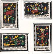 DAHOMEY Scott 198-201 Yvert 218-221 (4) * Cote 6,00$ 1965 - Bénin – Dahomey (1960-...)