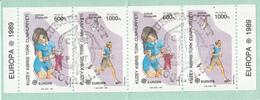Turks Cyprus - Europa/CEPT - Kinderspelen - Poppen/Vliegeren - Stempel 31-5-1989 - M MH2 - 1989