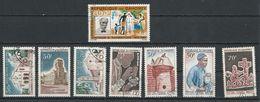 DAHOMEY Scott 212-214, C31, 215-218 Yvert 232-234, PA35, 235-235 (8) O Cote 6,00$ 1965 - Bénin – Dahomey (1960-...)