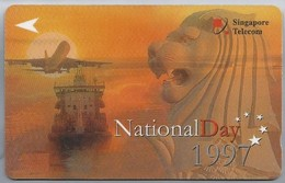 Telefoonkaart. Singapore Telecom - NationalDay 1997. National Day 1997 - - Bloemen
