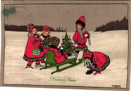 6  CPA   Illustrator   Pauli Ebner Christmas Tree  M.M.Vienne M.MUNK Poppen Poupées Cat Dolls - Ebner, Pauli