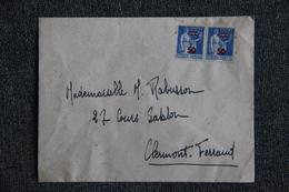 Lettre De France à Clermont Ferrand ( Semeuse Camée Type Paix, 90 C Outremer Avec Surcharge 50 X2) - 1906-38 Semeuse Camée