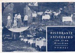 Publicité - RISTORANTE  ANFITEATRO Con Gran Giardino -    POMPEI - Dépliants Touristiques