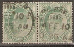 India  1902  SG 122 1/2a Fine Used Pair - India (...-1947)