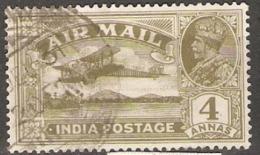 India  1929  SG 222a  4a Fine Used - India (...-1947)