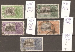 India  1935  SG 240-45w Various Values And Watermarks  To 3,1/2a  Fine Used - India (...-1947)